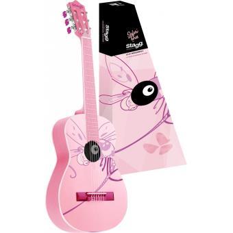 34 36 Sur Guitares Enfants Stagg Guitare Classique 1 2 Rose Dessin