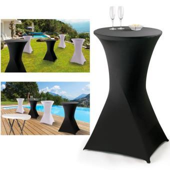 Housse noire pour table haute pliante mange debout - Accessoires ...
