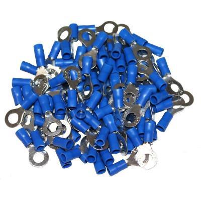 Cosses Electriques A Oeil De 6 Bleues Sachet De 100 Cosses