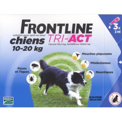 Frontline tri act - chien m (10 - 20 kg) - 3 pipettes