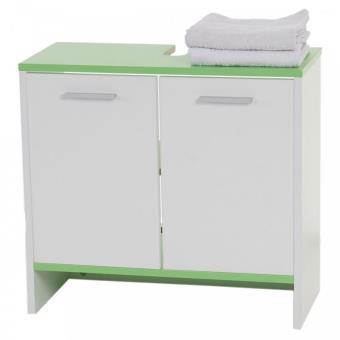 armoire lavabo meuble de salle de bain 56x60x28cm blanc vert sdb04006 achat prix fnac. Black Bedroom Furniture Sets. Home Design Ideas