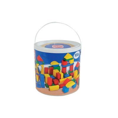Simba Toys 100010151 Pack de 100 briques colorées en bois