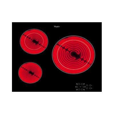 Whirlpool AKT8030NE - Vitrocéramique - 3 plaques de cuisson - Niche - largeur : 56 cm - profondeur : 49 cm - noir