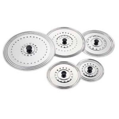 Ustensiles et accessoires de cuisine - couvercle inox non de 14 à 18 cm ( IL-118-12 )