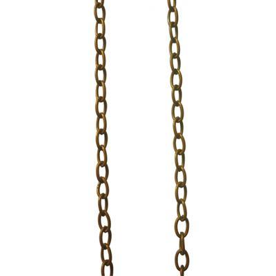 Chaîne grosse maille bronze à4mm - graine créative