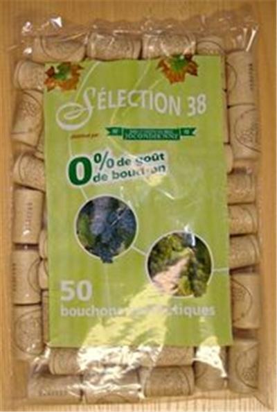 Bouchonnerie jocondienne bouchon(50)liege synthet.38x22*2ans*s