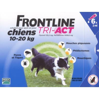 Frontline tri act - chien m (10 - 20 kg) - 6 pipettes