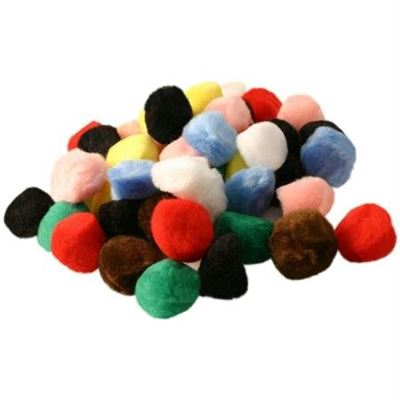 50 pompons 15mm assortis
