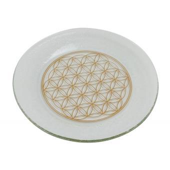 2be323d73d0 Assiette ronde avec Fleur de Vie dorée 25 cm - Achat   prix