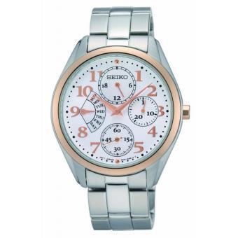 43331266501 Seiko Quartz Cadran argent Étui en or avec bracelet en acier inoxydable  Montre Femme SRL052P1 - Montre Homme - Achat   prix