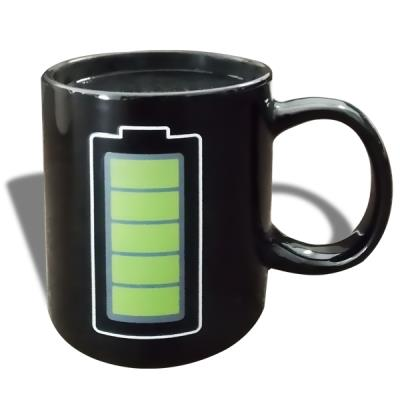 Mug thermo réactif tasse thermo-changeante batterie rechargée
