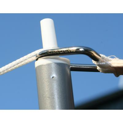 Piquet de soutien de 2.50 m pour voile d'ombrage rectangulaire en Polyéthylène tressé 185 grs/m² anti-UV, 500 cm x 400 cm -PEGANE-