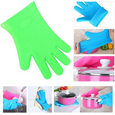 gants de cuisine en silicone résistant à la chaleur pour cuisine et grill et  barbecue Vert - Achat & prix | fnac