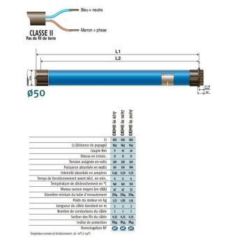 Moteur Double Isolation Pour Volet Roulant Oximo C2 Zf 64 6 17 Io
