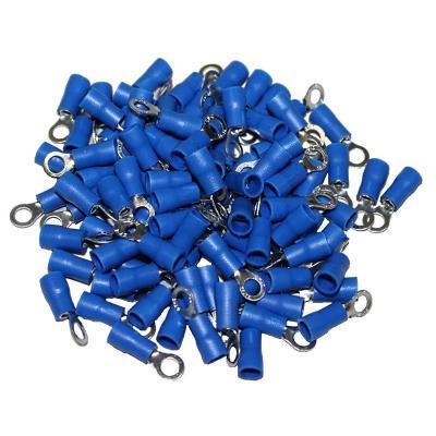 Cosses Electriques A Oeil De 4 Bleues Sachet De 100 Cosses