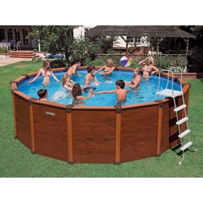 Piscine HorsSol Aspect Bois Sequoia Spirit Intex M X M