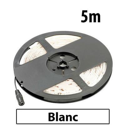 Bande à LED 230 V, 5 mètres - blanc