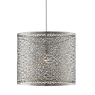 Lighting collection 700035 abat-jour suspension en métal non électrifiée chrome 60 w