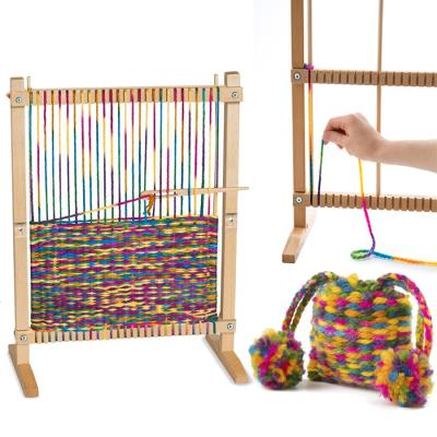 Metier à tisser la laine complet en bois solide et robuste pour durer enfant 6 +