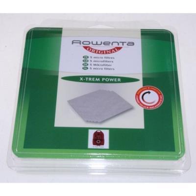 5 microfiltre x-trem power pour aspirateur rowenta