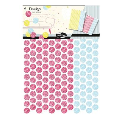 Stickers muraux M.Design pois multicolores 2 planches
