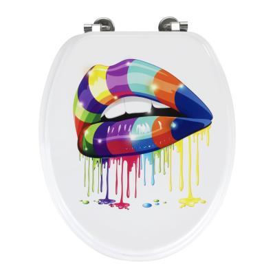 Abattant WC motif Lip, 37 x 6 x 46,7 cm -PEGANE-