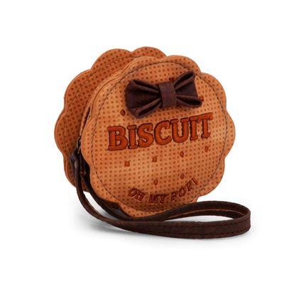 Oh My Pop! Biscuit Rotondo Porte-monnaie, Beige