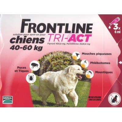 Frontline tri act - chien xl (40 - 60 kg) - 3 pipettes