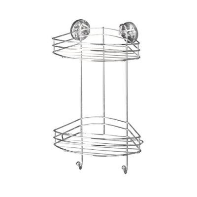 Wenko 20885100 vacuum-loc etagère d'angle 2 niveaux dimensions 24 x 15 x 42 cm