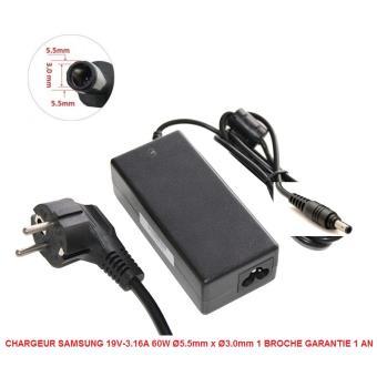 Chargeur Alimentation Compatible Pour Samsung 19v 3 16a 60w O5 5mm X O3 0mm 1 Broche Garantie 1 An Chargeur Ordinateur Portable Achat Prix Fnac