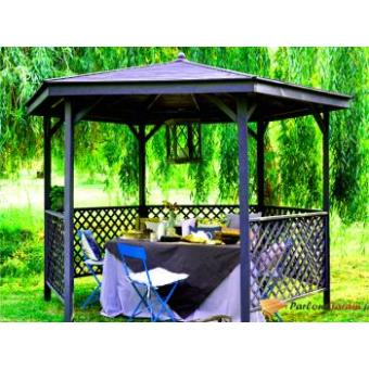 Kiosque de jardin en bois hexagonal Lora | Burger - Mobilier de ...