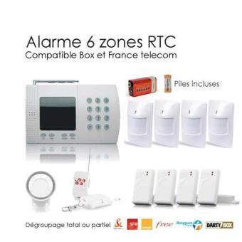 alarme maison sans fil de 6 zones xl box