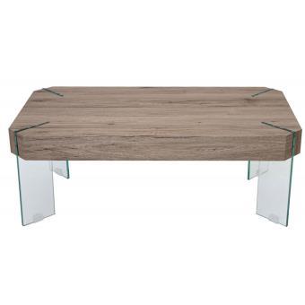 60 coloris x pieds x chêne basse cm PEGANE avec en Table 110 verre40 XiOkZTPu