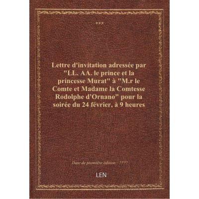 Lettre d'invitation adressée par \