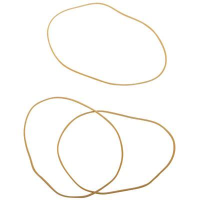 Bracelet caoutchouc blond 120 mm - boite de 100g