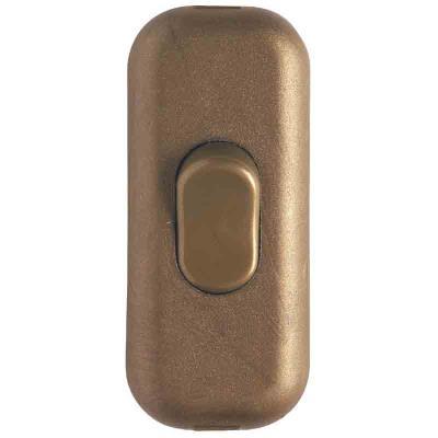 Legrand - Interrupreur à bascule touche de couleur - Vieil or