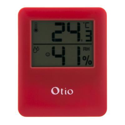 Thermomètre / Hygromètre intérieur magnétique Rouge