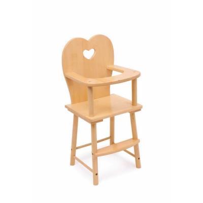 Chaise haute en bois pour poupée Lucia