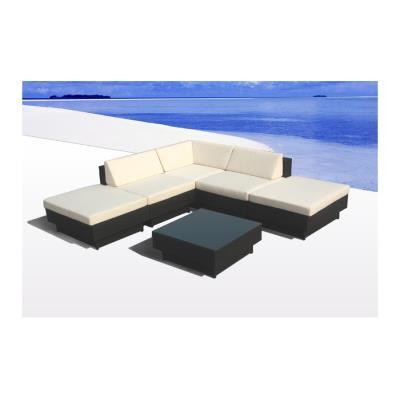 salon de jardin bari en resine tressee d\'angle, luxe, poly ...