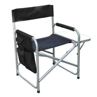 chaise de peche camping regisseur plage pliante fauteuil en acier avec poches et tablette pour. Black Bedroom Furniture Sets. Home Design Ideas