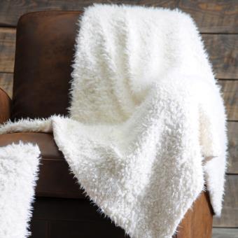 plaid fausse fourrure polyester effet laine blanc 130x160cm mouton achat prix fnac. Black Bedroom Furniture Sets. Home Design Ideas