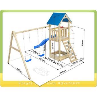 aire de jeux bois wickey captains tower achat prix fnac. Black Bedroom Furniture Sets. Home Design Ideas