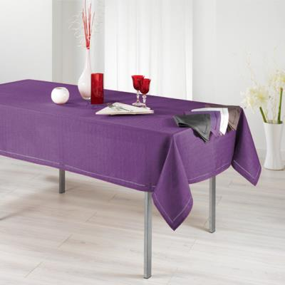 Nappe 140x240 CHAMBRAY ELEGANCE prune