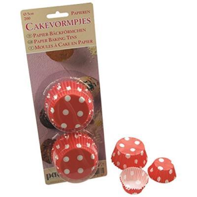 Patisse 2047904 caissette à cupcake 200 pièces en papier rouge