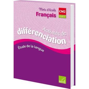 Mon Livre De Francais Cm2 Exercices Differenciation
