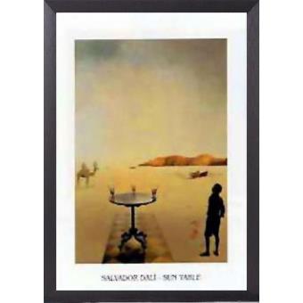 Poster Reproduction Encadre Salvador Dali Table Solaire I 70x50