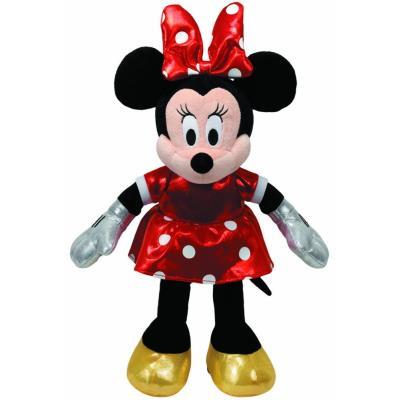 Ty Beanie - Disney - Minnie Mouse en Robe Rouge à Poids - Peluche Sonore 22 cm