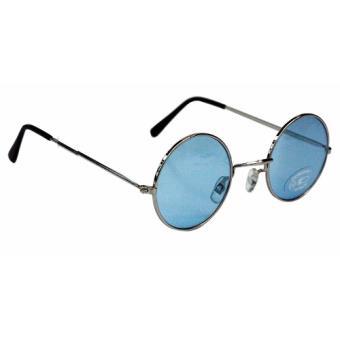07bd3e32e9d05 Lunettes rondes de hippie (bleu) - Accessoire de déguisement - Achat   prix