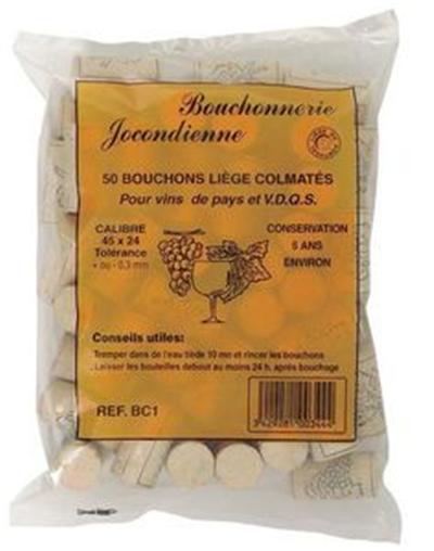 Bouchonnerie jocondienne bouchon(50)liege colmate 38x24*4/6mois*s
