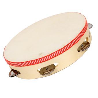 tambourin 6 cymbales et peau 22 cm instrument de musique en bois pour enfants instruments de. Black Bedroom Furniture Sets. Home Design Ideas
